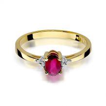 Małe zdjęcie Pierścionek zaręczynowy z rubinem 0,60 ct