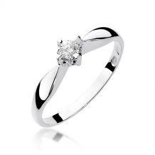Klasyczny pierścionek z...