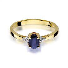 Małe zdjęcie Pierścionek zaręczynowy z szafirem 0,70 ct