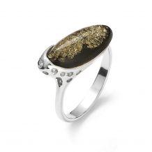 Srebrny pierścionek z dużym...