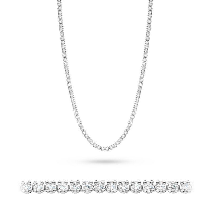 Naszyjnik z diamentami z białego złota