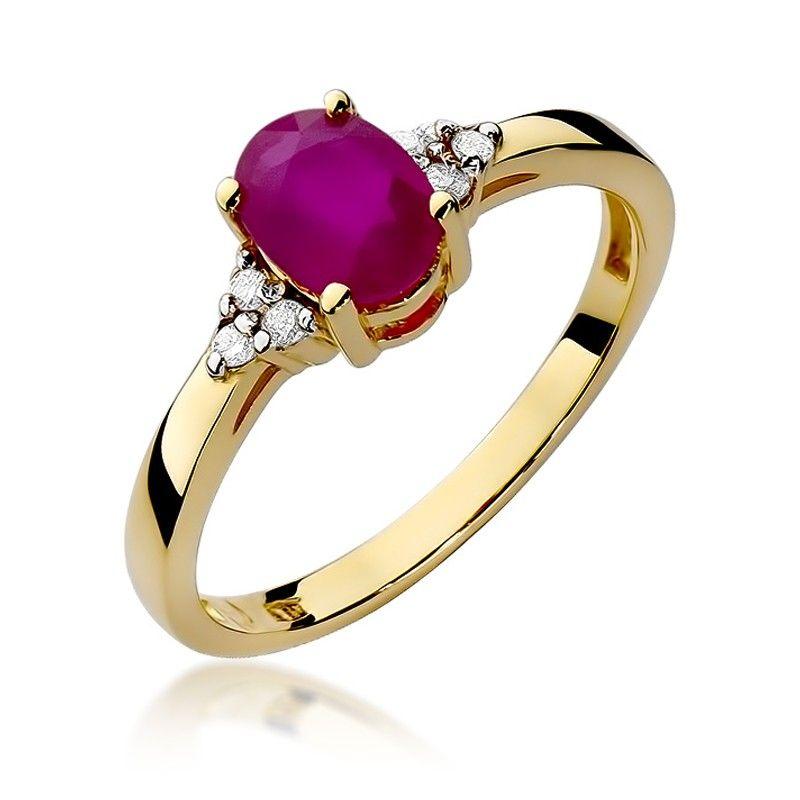 Pierścionek z rubinem w klasycznym kształcie