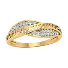 Szykowny złoty pierścionek...
