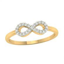 Złoty pierścionek z motywem...