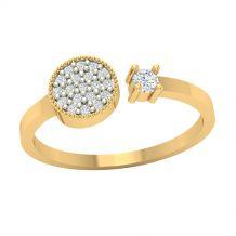 Nowoczesny złoty pierścionek