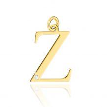 Złota literka Z z brylantem