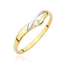 Futurystyczny pierścionek z...