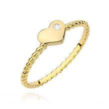Żółtozłoty pierścionek z...