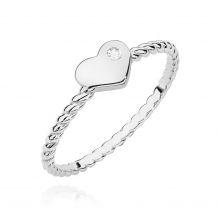 Białozłoty pierścionek z...