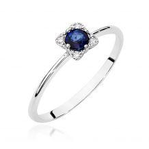 Kwadratowy pierścionek z...