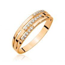 Szeroki złoty pierścionek z...