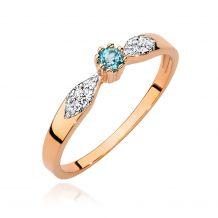 Złoty pierścionek z topazem...