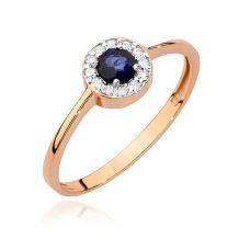 Okrągły pierścionek z...