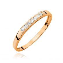 Złoty pierścionek z głęboko...