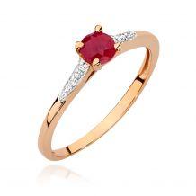 Złoty pierścionek z dużym...