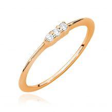Złoty pierścionek z 3...