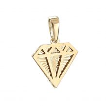 Złoty diament zawieszka