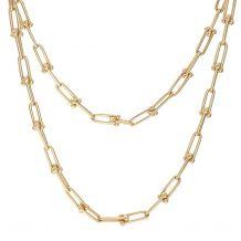 Złoty łańcuszek ze złotymi...