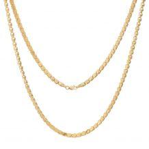 Złoty łańcuszek z płaskimi...