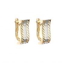 Kolczyki z dwukolorowego złota