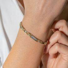 Małe zdjęcie Dwukolorowa złota bransoletka