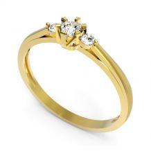 Elegancki złoty pierścionek...