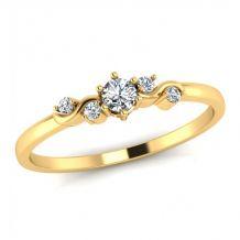 Stylowy złoty pierścionek z...