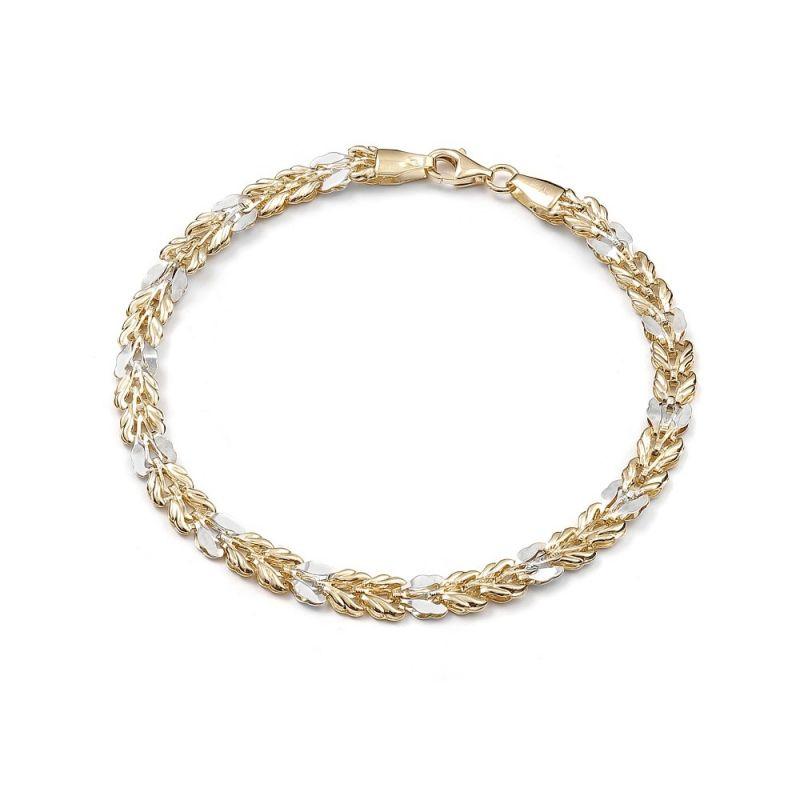 Złota bransoletka dwukolorowa