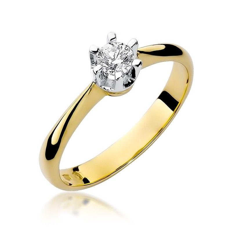 Pierścionek zaręczynowy z brylantem 0,23 ct H/Si