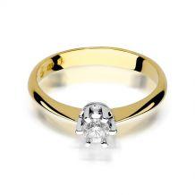 Małe zdjęcie Pierścionek zaręczynowy z brylantem 0,23 ct H/Si