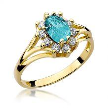 Duży pierścionek z topazem...
