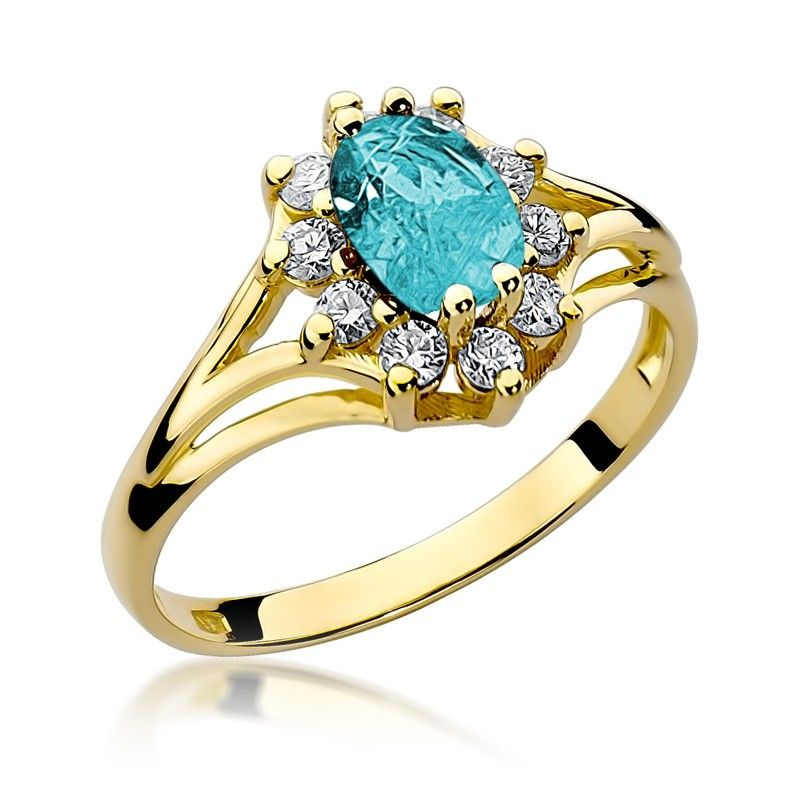 Duży pierścionek z topazem 0,90 ct