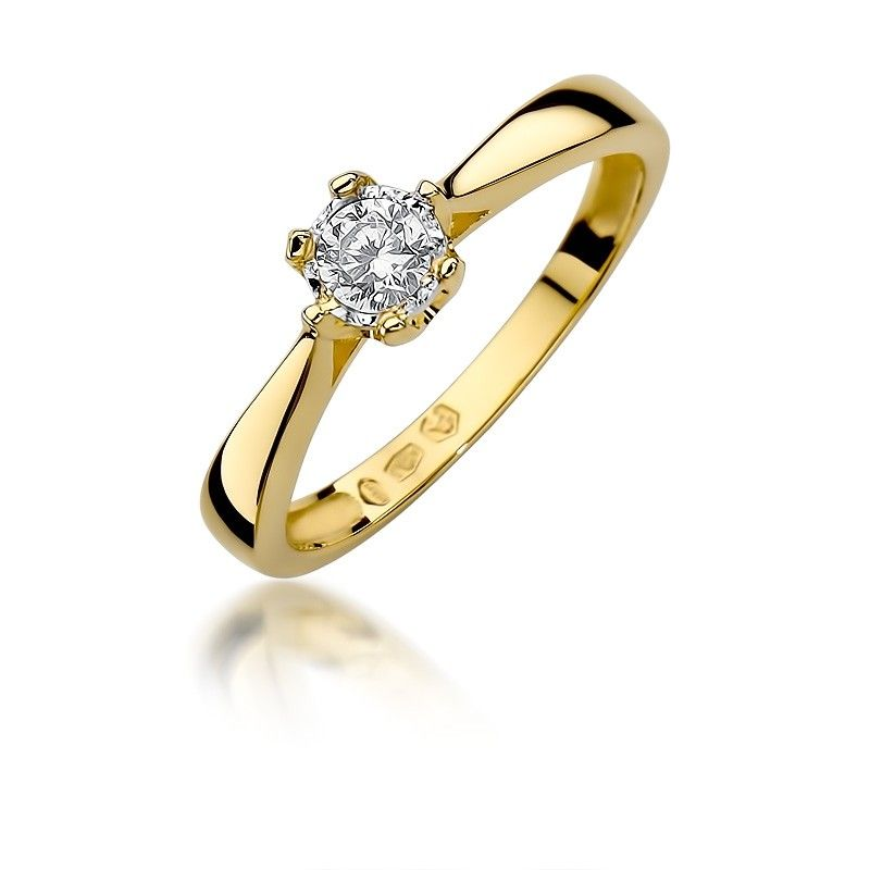 Klasyczny pierścionek z brylantem 0,20ct H/Si