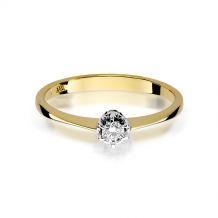 Małe zdjęcie Pierścionek zaręczynowy z małym brylantem