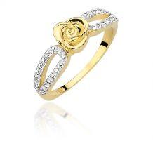 Małe zdjęcie Pierścionek ze złotą różą