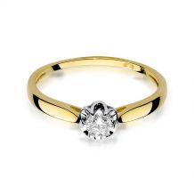 Małe zdjęcie Pierścionek zaręczynowy z brylantem 0,15 ct H/Si