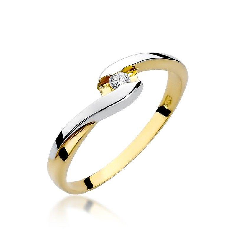 Pierścionek podwójne złoto