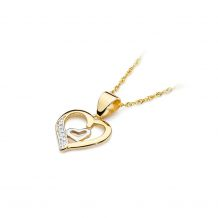 Małe zdjęcie Zawieszka z brylantami połączone serca