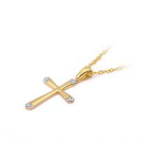 Małe zdjęcie Zawieszka z brylantami krzyżyk