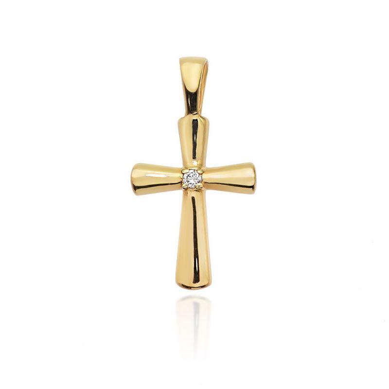 Zawieszka z brylantami krzyż minimalistyczny