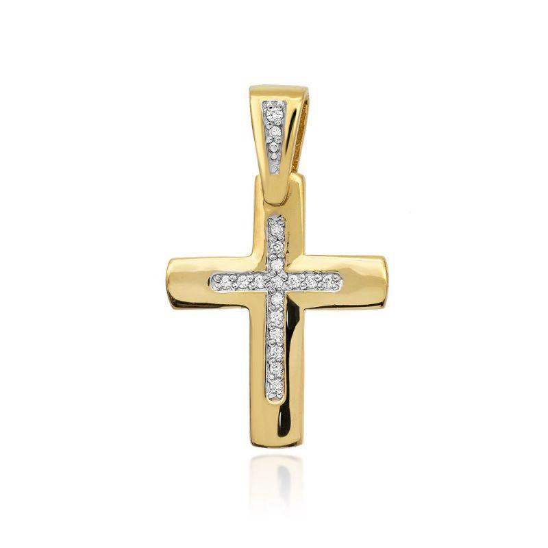 Zawieszka krzyż złoty