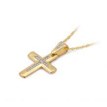 Małe zdjęcie Zawieszka krzyż złoty