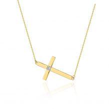 Celebrytka prosty krzyż