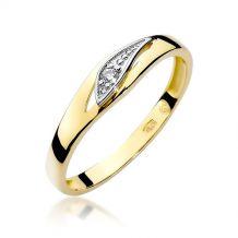 Pieścionek ze złota z...