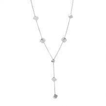 Krawatka srebrna sześciany