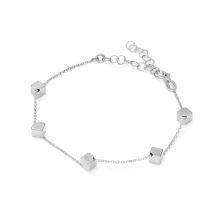 Bransoletka srebrna sześciany