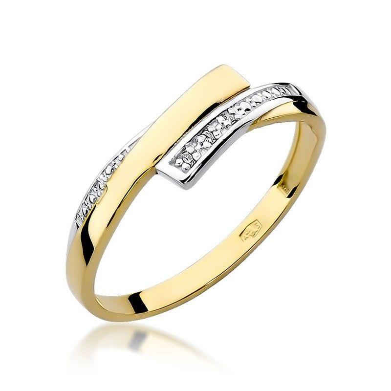 Pierścionek złoto i brylanty