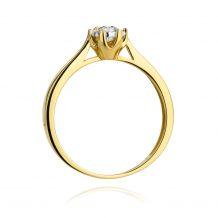 Małe zdjęcie Klasyczny pierścionek z brylantem 0,20ct H/Si