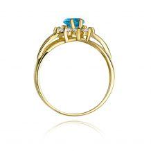 Małe zdjęcie Duży pierścionek z topazem 0,90 ct