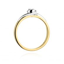 Małe zdjęcie Pierścionek z okrągłym oczkiem 0,25 ct H/Si